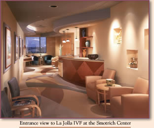 Entrance View of the La Jolla IVF at the Smotrich Center for Reproductive Enhancement
